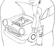 Coloriage dessin  Mecanicien 12