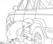 Coloriage dessin  Mecanicien 8
