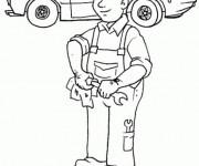 Coloriage et dessins gratuit Mécanicien automobile à imprimer