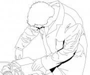 Coloriage et dessins gratuit Mécanicien porte sa combinaison à imprimer