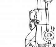 Coloriage et dessins gratuit Mécanicien répare le moteur à imprimer