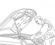 Coloriage et dessins gratuit Mécanicien voiture à imprimer