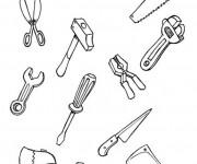 Coloriage et dessins gratuit Outils de Mécanicien à imprimer