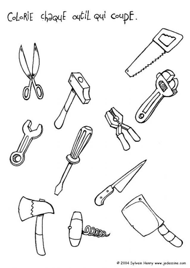 Coloriage et dessins gratuits Outils de Mécanicien à imprimer