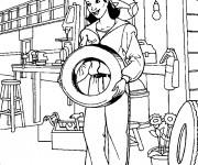 Coloriage et dessins gratuit Une Mécanicienne à imprimer