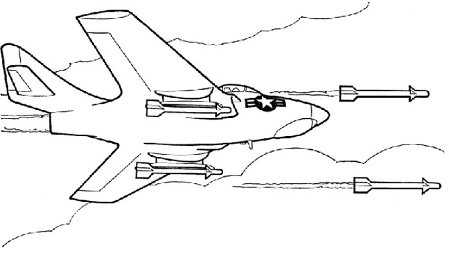 Coloriage avion de chasse dessin gratuit imprimer - Dessin d un avion ...