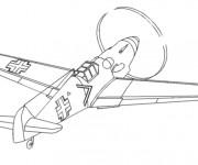 Coloriage et dessins gratuit Avion militaire à imprimer