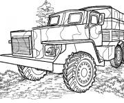 Coloriage et dessins gratuit Camion militaire à imprimer