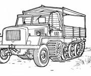 Coloriage et dessins gratuit Camion Militaire américain à imprimer