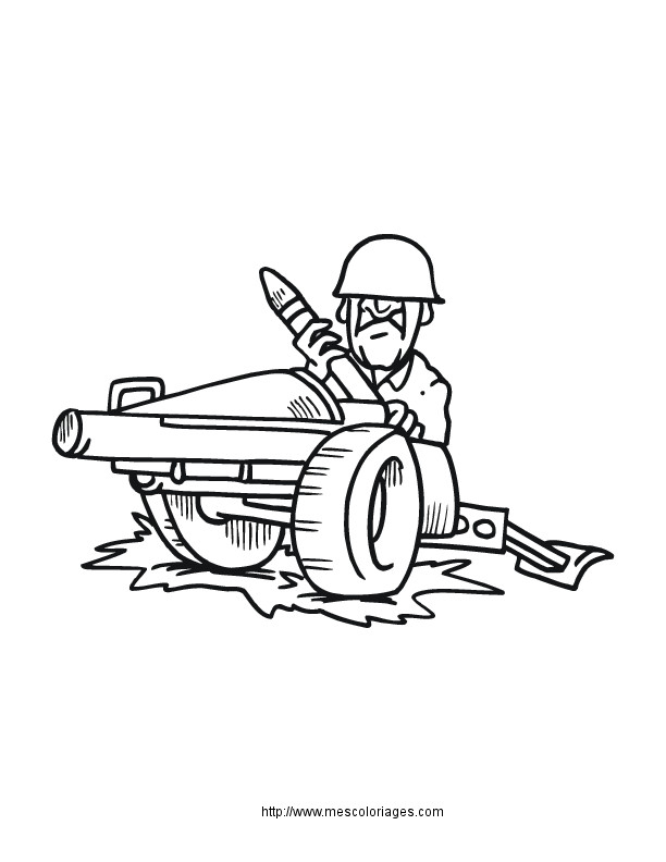 Coloriage canon dessin gratuit imprimer - Dessin de militaire ...