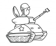 Coloriage Conducteur de tank
