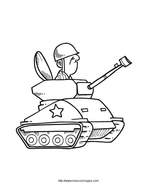 Coloriage Conducteur de tank dessin