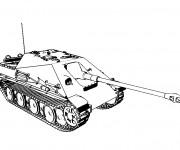 Coloriage et dessins gratuit dessin d'un Tank à imprimer