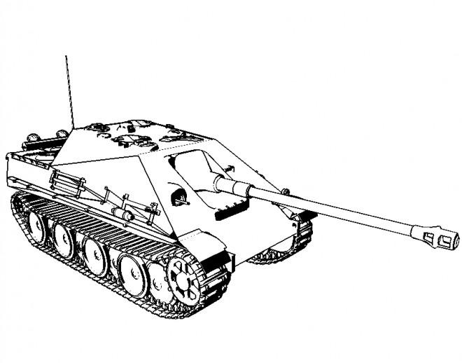 Coloriage et dessins gratuits dessin d'un Tank à imprimer