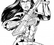 Coloriage et dessins gratuit GI-Joe personnage et arme à imprimer