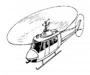 Coloriage et dessins gratuit Hélicoptère en couleur à imprimer