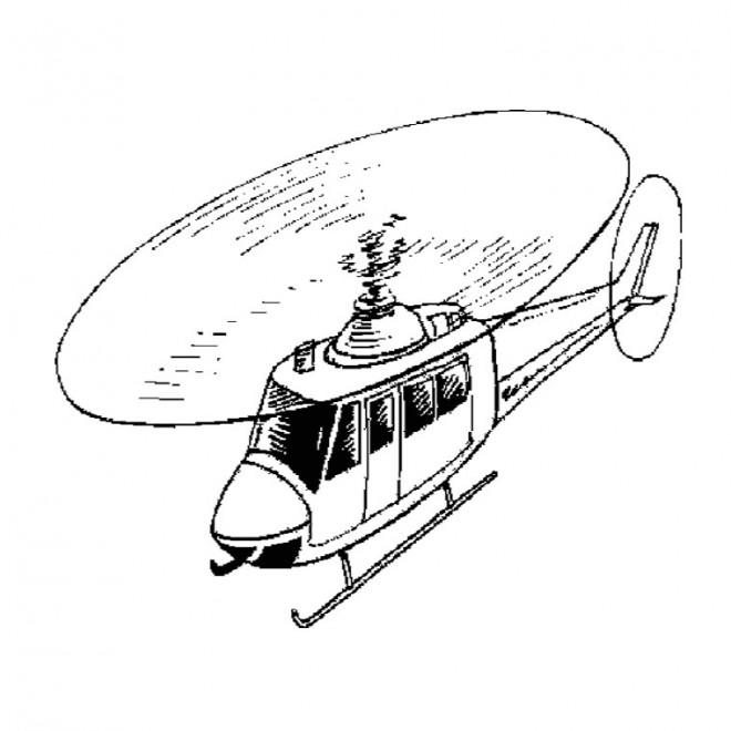 Coloriage et dessins gratuits Hélicoptère en couleur à imprimer