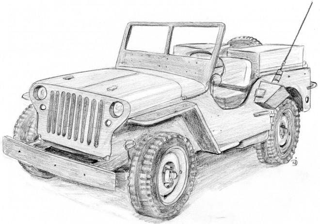 Coloriage et dessins gratuits Jeep dessin à imprimer