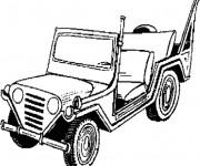 Coloriage et dessins gratuit Jeep Militaire à imprimer
