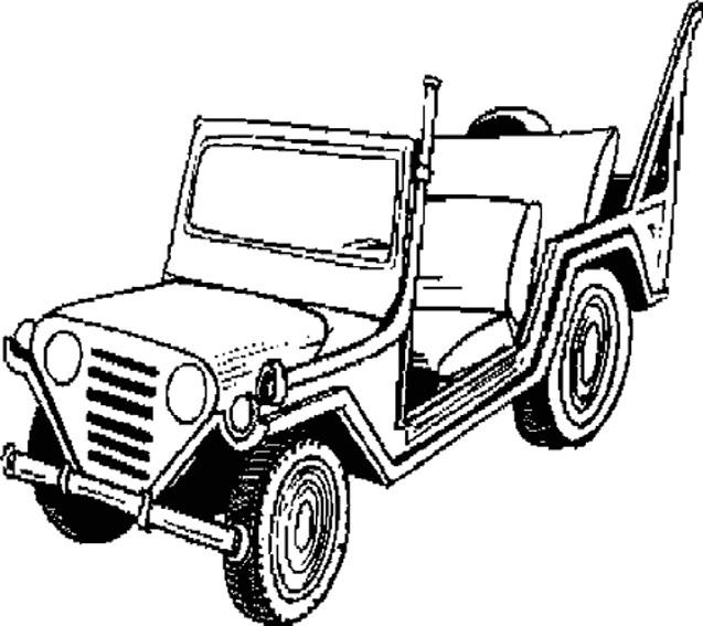 Coloriage et dessins gratuits Jeep Militaire à imprimer