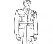 Coloriage dessin  Militaire 13