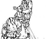 Coloriage dessin  Militaire 14