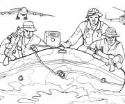 Coloriage dessin  Militaire 2