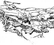 Coloriage et dessins gratuit Militaire en guerre à imprimer