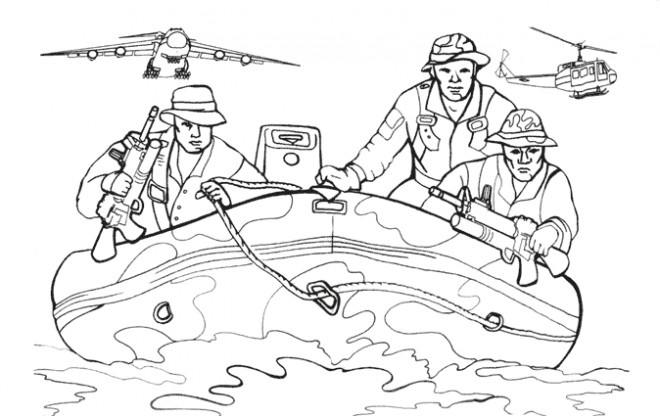 Coloriage et dessins gratuits Militaire facile à imprimer
