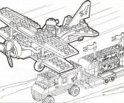 Coloriage et dessins gratuit Militaire Lego à imprimer