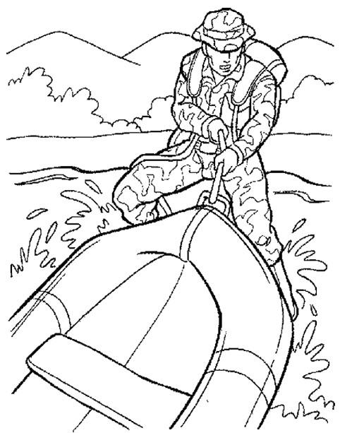 Coloriage et dessins gratuits Militaire Marines à imprimer