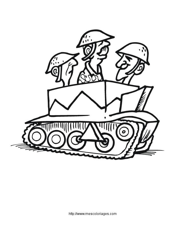 Coloriage et dessins gratuits Soldats humoristique à imprimer
