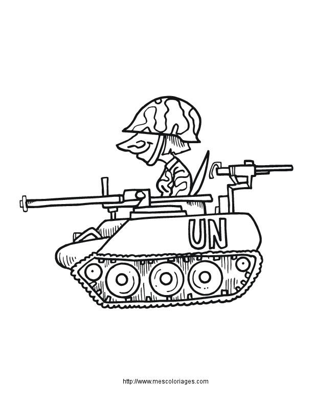Coloriage Militaire gratuit à imprimer liste 20 à 40