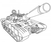 Coloriage Tank militaire