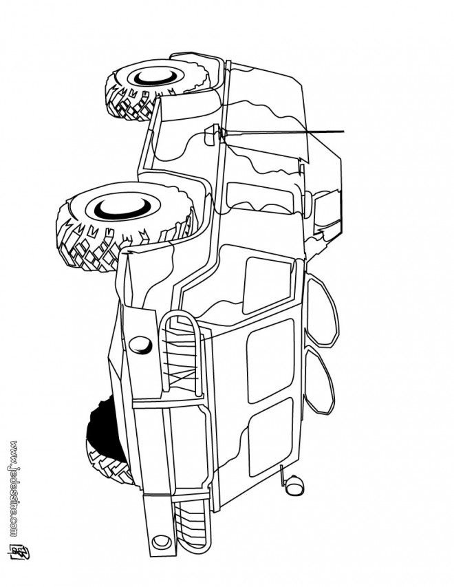Coloriage et dessins gratuits Un char blindé à imprimer