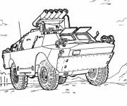 Coloriage et dessins gratuit Véhicule armée à imprimer