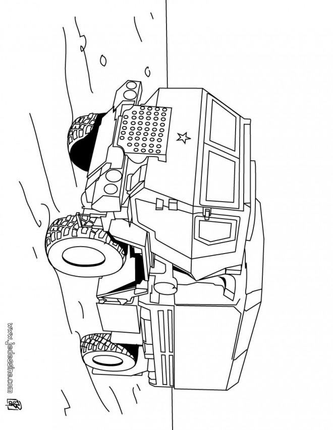coloriage véhicule de guerre blindé