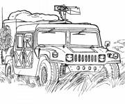 Coloriage et dessins gratuit Véhicule militaire à imprimer