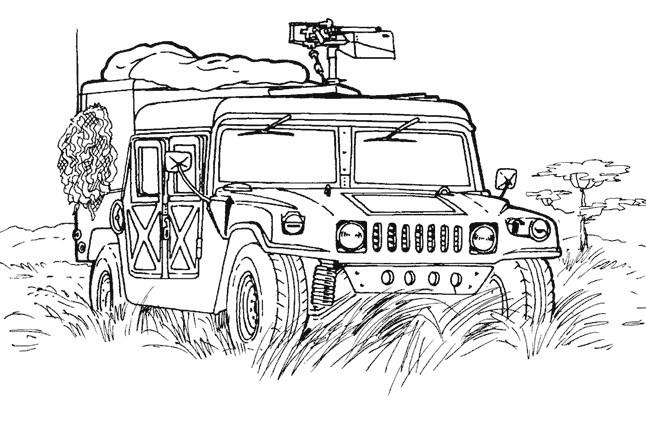 Coloriage et dessins gratuits Véhicule militaire à imprimer