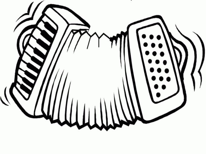 Dessin Accordéon coloriage accordéon dessin gratuit à imprimer