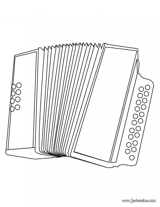 Coloriage et dessins gratuits Accordéon diatonique à imprimer