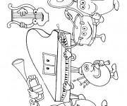 Coloriage et dessins gratuit Des instruments de musique à imprimer
