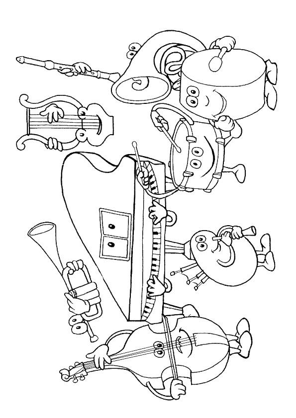 Coloriage des instruments de musique dessin gratuit imprimer - Coloriage notes de musique ...