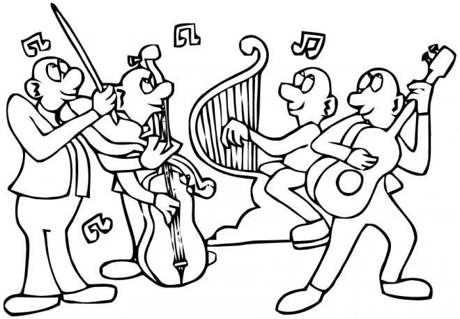 Coloriage et dessins gratuits Groupe de musique à imprimer