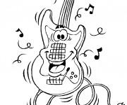 Coloriage et dessins gratuit Guitare électrique à imprimer