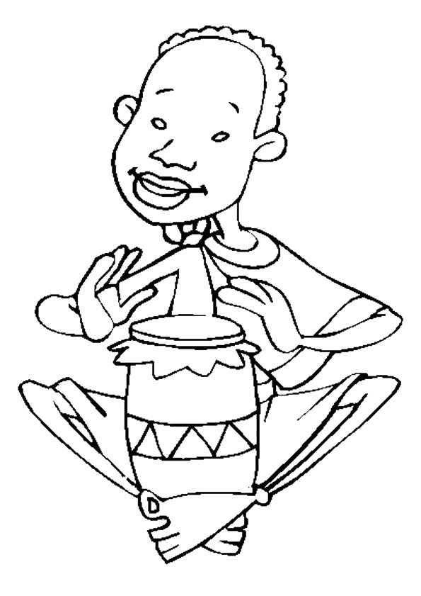 Coloriage et dessins gratuits Le garçon joue du tambour à imprimer