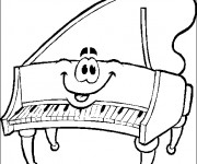 Coloriage Le piano souriant