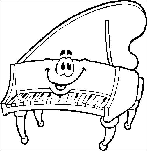Coloriage et dessins gratuits Le piano souriant à imprimer