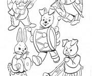 Coloriage et dessins gratuit Les animaux jouent la musique à imprimer