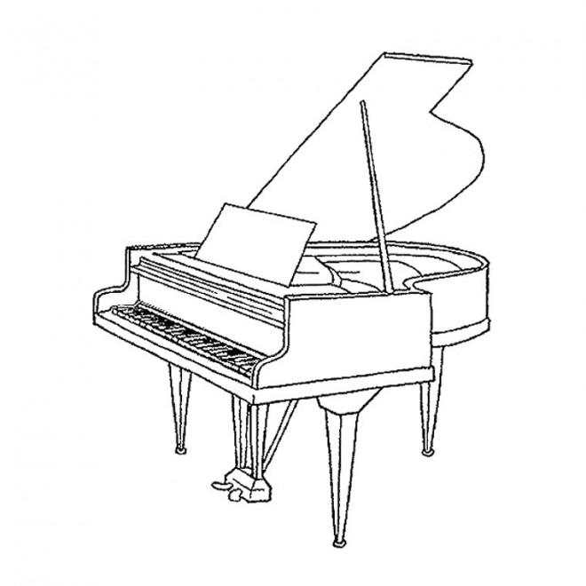 Coloriage et dessins gratuits Piano à queue ouvert à imprimer